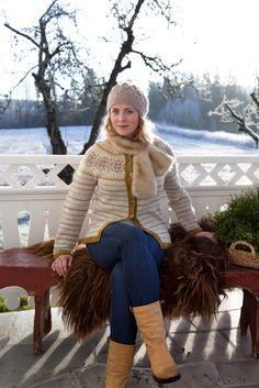 Lovely new design scandinavian traditional style knitted jacket - Flott kofte, lev landlig-kofta 2015 Livs Lyst: siste på kofte-fronten