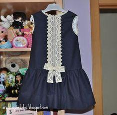 New moda infantil vestidos verano Ideas Little Dresses, Little Girl Dresses, Cute Dresses, Girls Dresses, Frock Design, School Fashion, Kids Fashion, Womens Fashion, Moda Kids