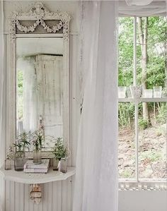 interior - white shades
