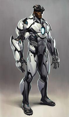 "nubiamancy:  """"Cyborg"" via Injustice 2  Illustrated by Joseph Meehan  """