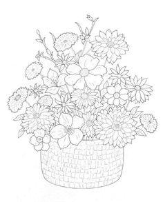 coloring page Bouquets - Bouquets