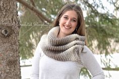 Free Crochet Pattern: The Aveline Scarf by A Crocheted Simplicity