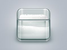 Glass of milk designed by Angelo Wellens. Mobile App Icon, Ios App Icon, App Design, Icon Design, 3d Icons, Flat Icons, Apple Icon, Transparent Design, App Logo