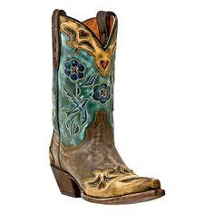 Dan Post Women's Vintage Blue Bird Snip Toe Western Boots