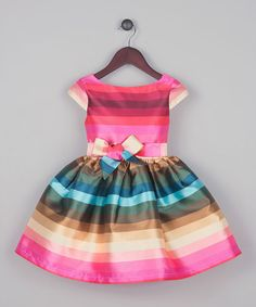 Easter dress. Look what I found on #zulily! Fuchsia Stripe Dress - Toddler & Girls #zulilyfinds