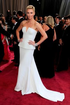 Chalize Theron's 2013 Oscar gown