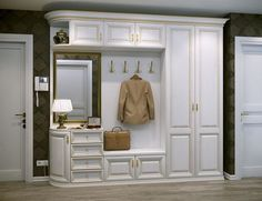 Who needs cabinets in the hallway in a classic … - Home And Garden Hall Wardrobe, Wardrobe Design Bedroom, Home Furniture, Upcycled Furniture, Furniture Design, Furniture Online, Handmade Furniture, Unique Furniture, Wooden Furniture