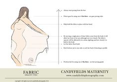 fabric pregnancy posing guide