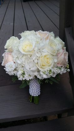 Blush and pearl bouquet