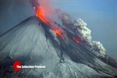 The most powerful volcano in Kamchatka releases steam and ash