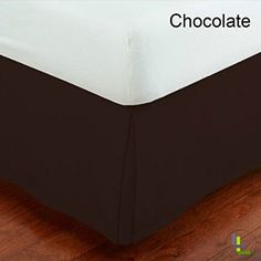 Floris Fashion High Quality Queen 1000TC 100% Egyptian Cotton Chocolate Solid Superb Finish 1PCs Box Pleated Bedskirt Solid (Drop Length: 16 inches)