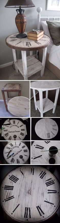 DIY Vintage Clock Table..