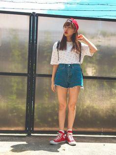 村瀬紗英|MOUSSYのTシャツ・カットソーを使ったコーディネート - WEAR