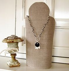 Necklace stand. http://blackdaisydesigns.blogspot.com/p/necklace-stand.html