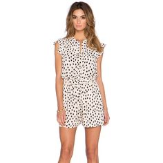 kate spade new york Leopard Dot Romper Rompers ($348) ❤ liked on Polyvore featuring jumpsuits, rompers, rompers & jumpsuits, playsuit jumpsuit, romper jumpsuit, leopard romper, polka dot jumpsuit and leopard print romper