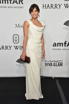 Michelle Rodriguez in Vivienne Westwood at the amfAR New York Gala