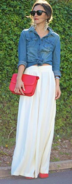 Red, White and Denim #spring #style