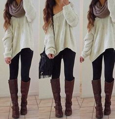 I have this sweater! And I can steal the scarf from my sister;)