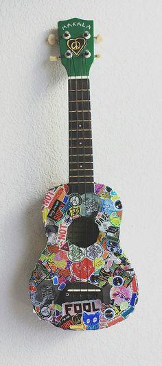 Beautiful ukulele art.