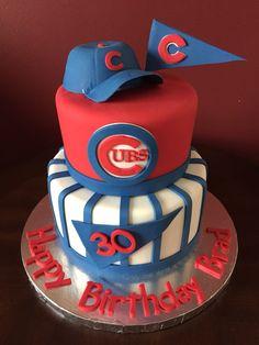 Chicago Cubs Baseball Birthday Cake