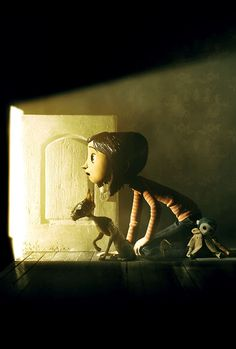 coraline, one of the best, most twisted kids movies I've ever had the pleasure of watching. :)