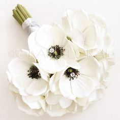 7 PC Real Touch Anemone Flower Package Wedding by GlamFloral, $485.00