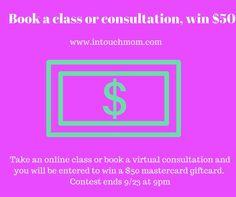 Book a Virtual breastfeeding class or virtual breastfeeding consultation and win a $50 MasterCard gift card.