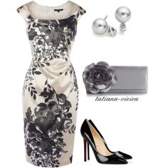 A fashion look from May 2012 featuring floral dresses, black pumps and hand bags. Browse and shop related looks.