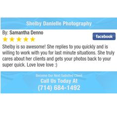 Shelby is so awesome! She replies to you quickly and is willing to work with you for last...