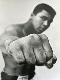 """Float like a butterfly, sting like a bee."" - Cassius Clay"