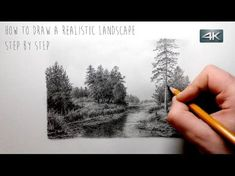 How To Draw Landscapes, Old Barn, Buildings, Skies, Using Graphite Pencil Techniques - YouTube