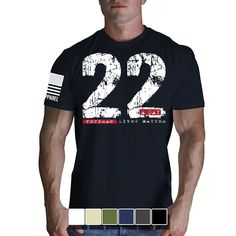 22 A Day T-Shirt- Nine Line Men's Charcoal Grey Military Tee Shirt - Star Spangled 1776 Nine Line Apparel, Stylish Mens Fashion, Fashion Vest, American Manufacturing, Jacket Style, Clothing Items, American Apparel, American Pride, Shirt Designs