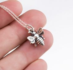 Sterling Silver Honeybee Necklace