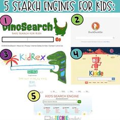 5 of my favorite kid friendly search engines!