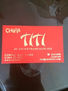 Chifa Titi, Lima: See 229 unbiased reviews of Chifa Titi, rated 4.5 of 5 on TripAdvisor and ranked #26 of 1,542 restaurants in Lima.