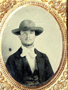 9th-plate-Ambrotype-Photo-of-Young-Handsome-QUAKER-Man-in-hat-and-cravat