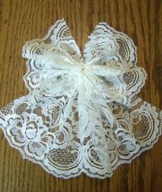 After you have fastened off your thread, your angel should look something like this. christmas angels How to Make a Lace Angel - CraftStylish Christmas Angel Crafts, Christmas Sewing, Diy Christmas Ornaments, Handmade Christmas, Holiday Crafts, Diy Lace Ornaments, Fabric Ornaments, Christmas Christmas, Christmas Decorations