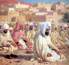 Étienne Nasreddine Dinet, peintre orientaliste (1861-1929) converti à l'islam, écrivait en 1918 une biographie en français du prophète Mohammed, dédicacée en son temps aux musulmans « morts au champ (...)