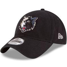 Men s New Era Black Minnesota Timberwolves Official Team Color 9TWENTY  Adjustable Hat be8e697e64a