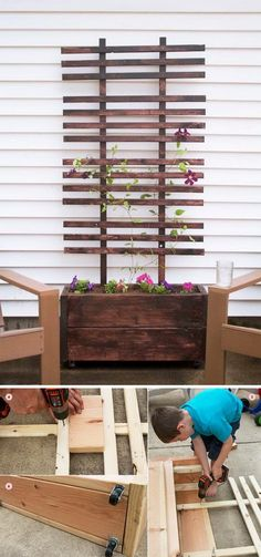 Carry your landscaping all the way through to the front porch with a gorgeous DIY trellis. Via Deuce Cities Henhouse