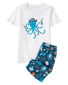 Pirate Octopus Shortie Two-Piece Gymmies®