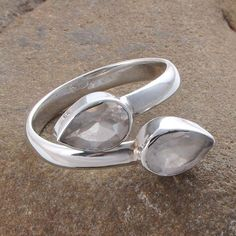 DESIGNER 925 SOLID STERLING SILVER 3.66g EXCLUSIVE CRYSTAL CUT RING R01287 #Handmade #RING