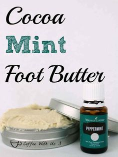 Cocoa Mint Foot Butter is a luxurious butter to help soften your skin. The cocoa butter and peppermint essential oil smell amazing together.
