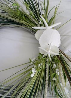 Beach Wedding Wreath of Shells Vines Grasses by BeachyWreaths, $129.00 when I can go to Walmart or Michael's & spend a little over $40 to make this. Yes.