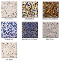 Icestone recycled glass counter tops the middle row for Concrete craft colorado springs