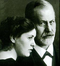 Sigmund Freud mit seiner Tochter Sophie.