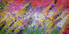 Purple rain - 2 paintings 30x30cm #acrylic #canvas #painting # purple # colours