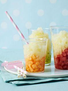 Rezept: Holunderblüten-Melonen-Granité