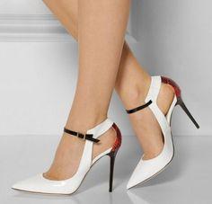 zapatos blanco mujer con tacones altos
