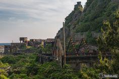 Gunkanjima (軍艦島) officially known as Hashima Island (端島) is an abandoned island in Nagasaki. Remains of the gunkanjima mine. which got started in Abandoned Castles, Abandoned Buildings, Abandoned Places, Hashima Island, Modern History, Urban Exploration, Travel Goals, Amazing Architecture, Around The Worlds